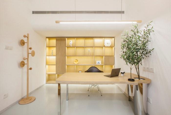 desain interior kantor minimalis natural 07