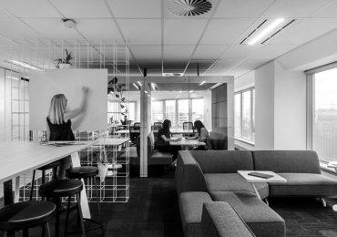 Desain Interior Lobby Kantor Modern