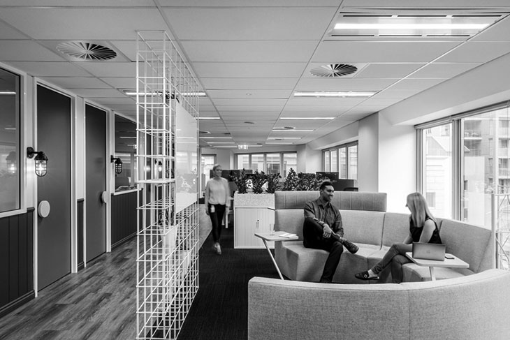 Desain interior lobby kantor 02