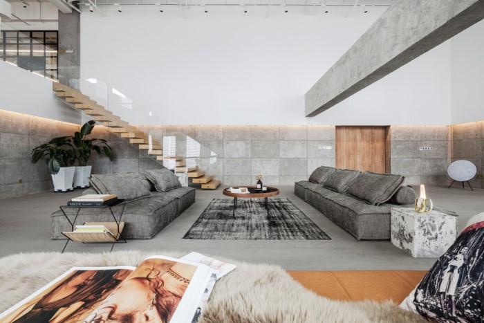 desain ruang kantor sederhana area resepsionis