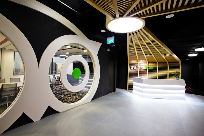 Desain ruang kantor unik 0