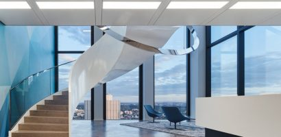 Desain Interior Kantor Futuristik, Modern & Trendi